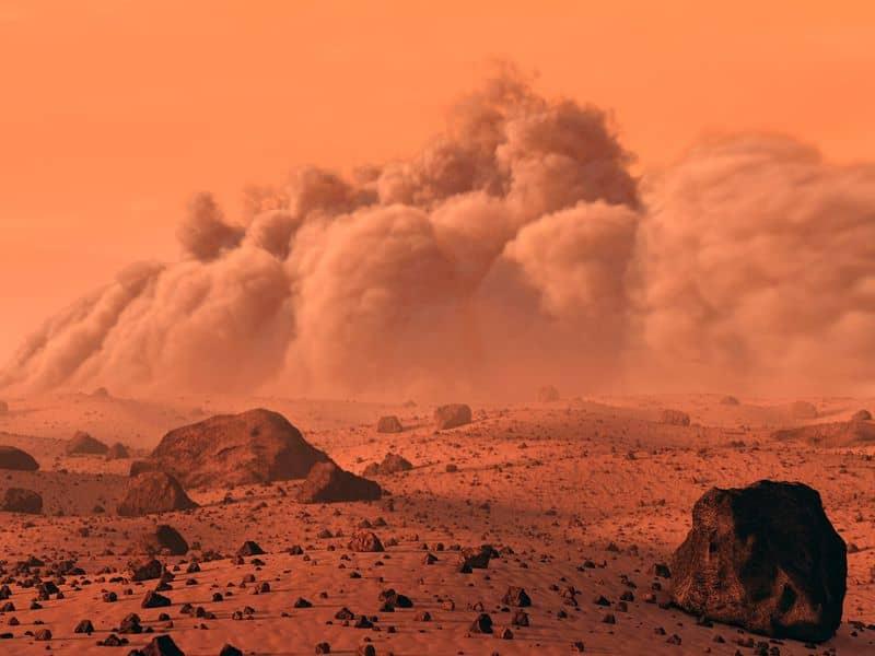 طوفانهای مریخ